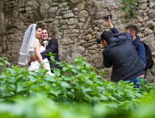 Зад кадър от сватбена фото сесия на Гери и Киро
